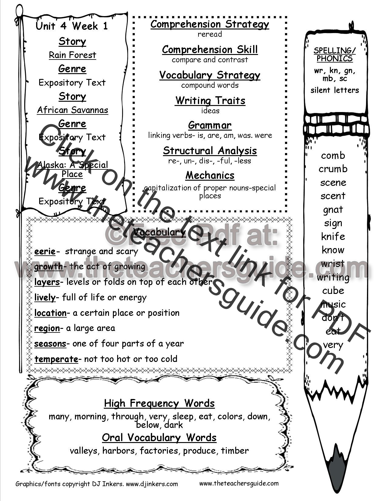 Worksheet Reading Activities For Grade 1 mcgraw hill wonders second grade resources and printouts unit four week one weekly outline