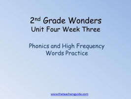 wonders unit four week three printout word practice