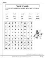 wonders unit four week three printout spelling wordsearch