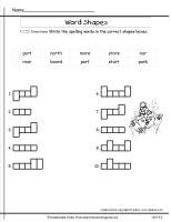 wonders unit four week three printout spelling word shapes