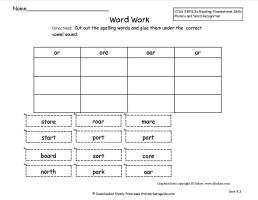 wonders unit four week three printout word sort