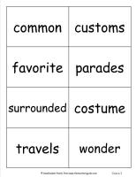 wonders unit four week three printout vocabuary cards