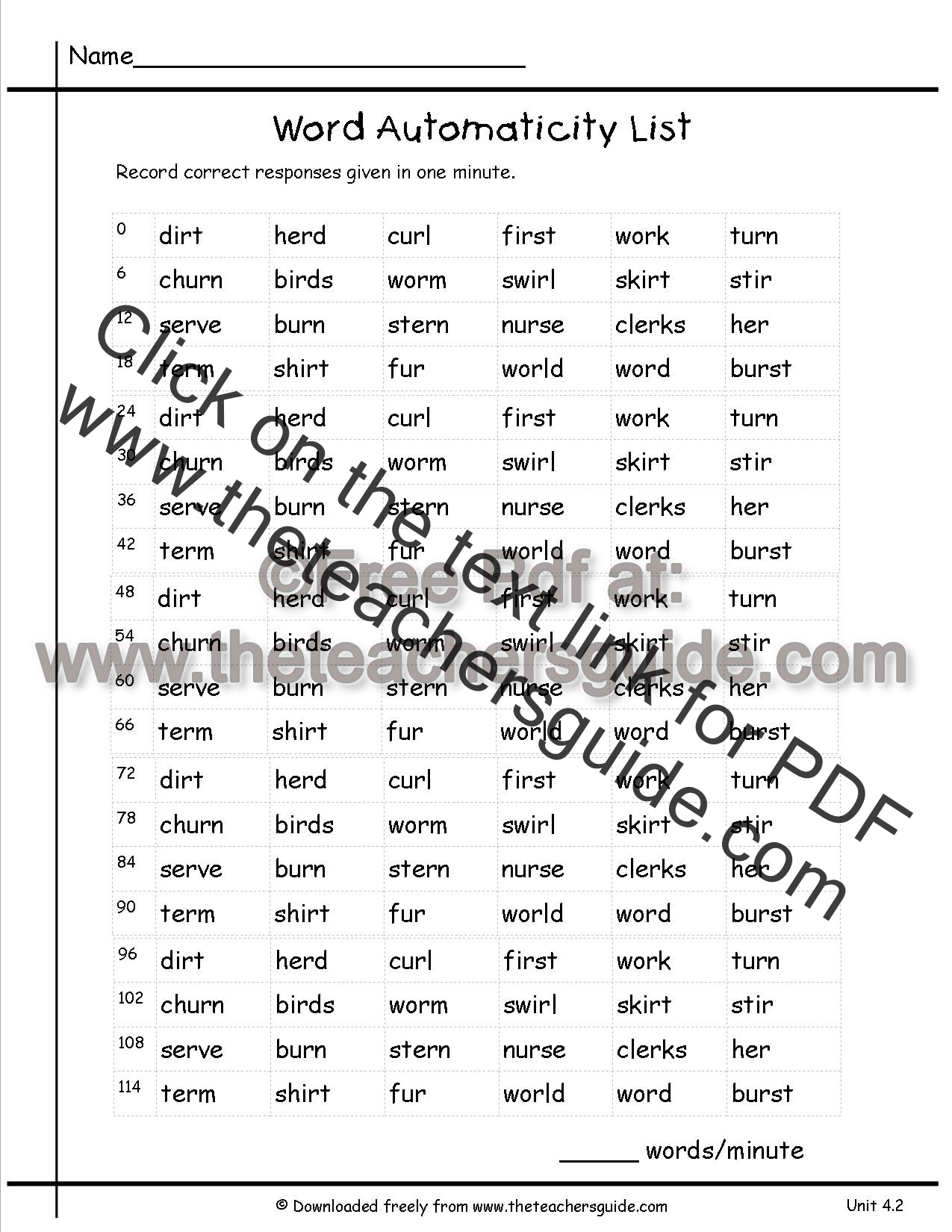 Worksheets Inflectional Endings Worksheet wonders second grade unit four week two printouts automaticity word list