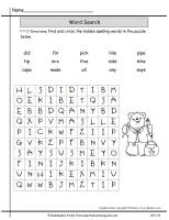 wonders unit one week five spelling words wordsearch