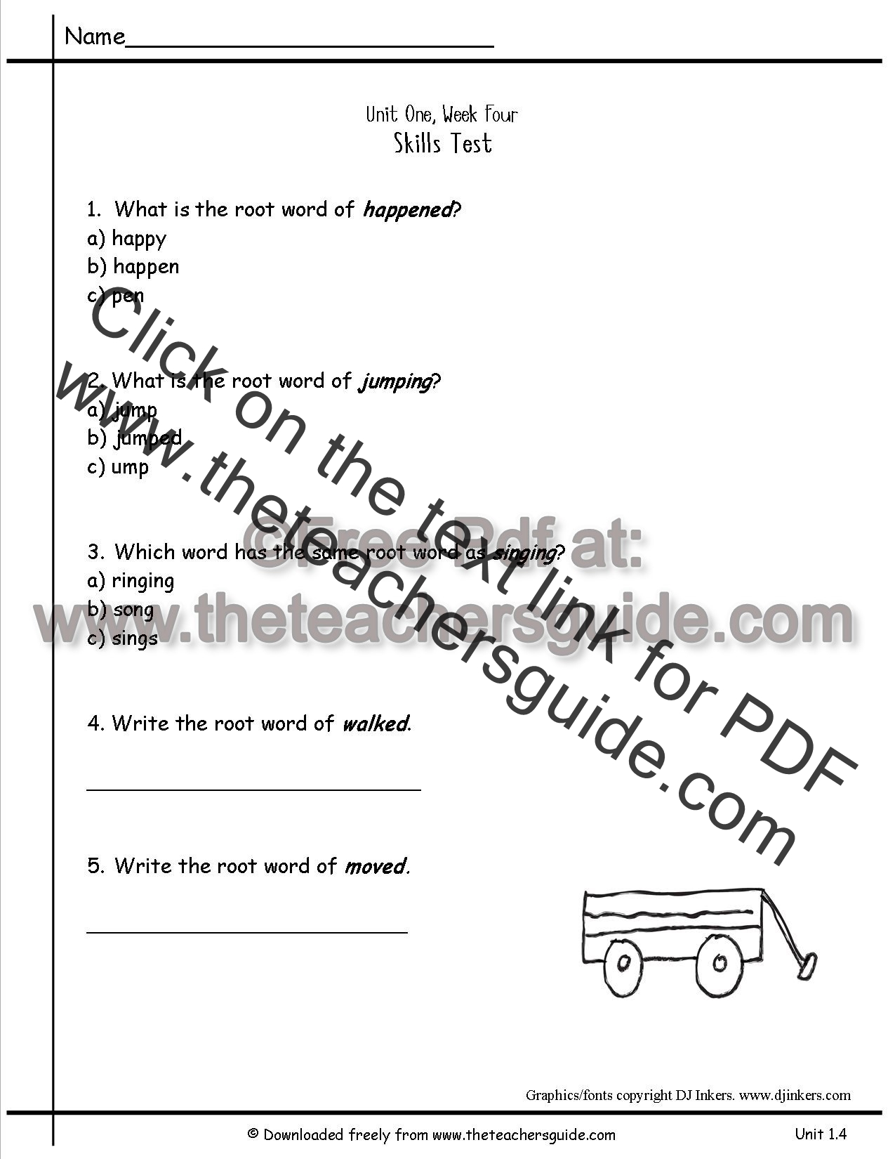 Wonders second grade unit one week four printouts wonders second grade unit 14 skills test robcynllc Choice Image