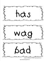 spelling words cards