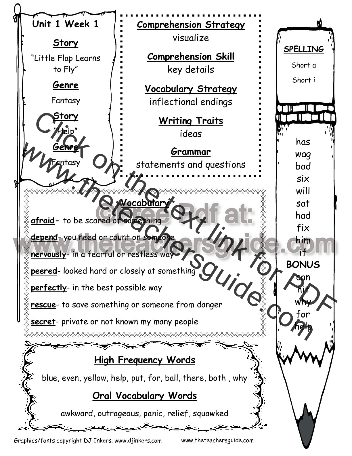 Worksheets 2nd Grade Grammar Worksheets mcgraw hill wonders second grade resources and printouts unit one week printout