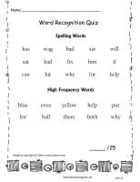 wonders unit one week one spelling words