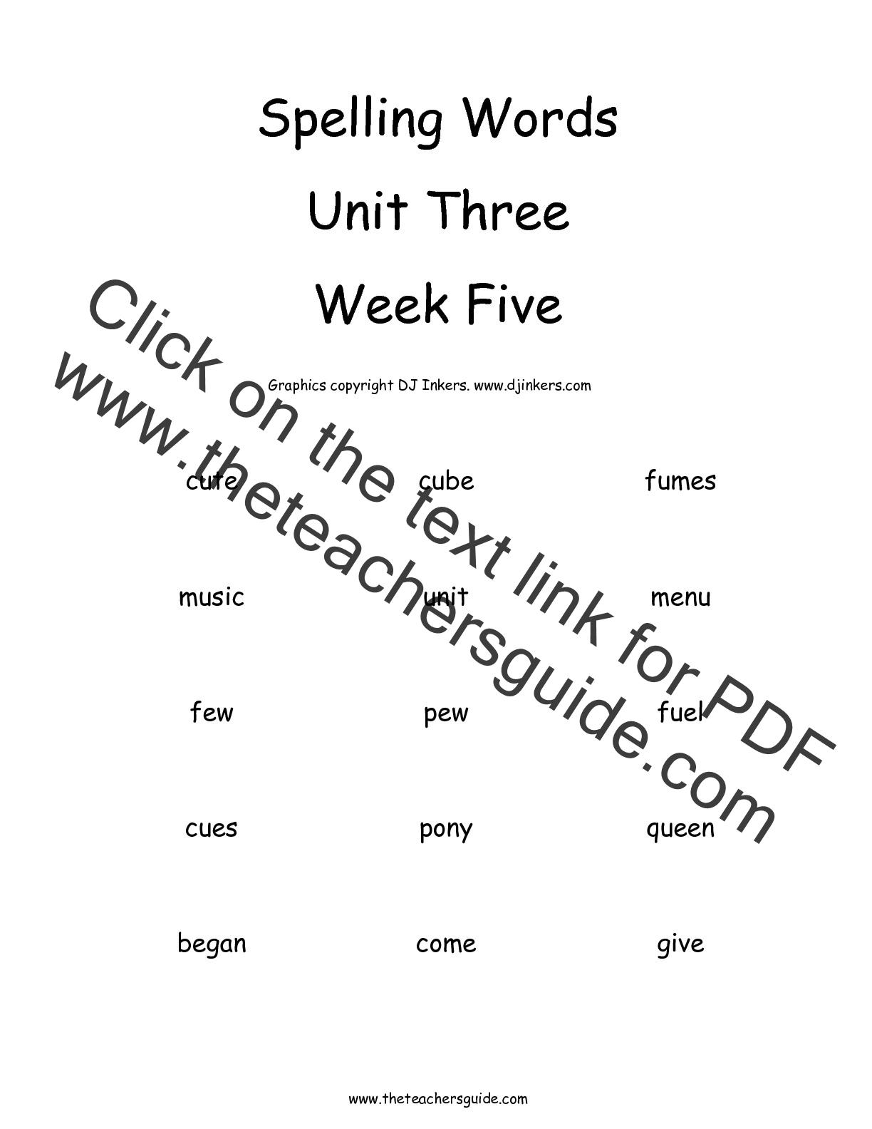 2nd Grade Test Worksheets : Wonders second grade unit three week five printouts