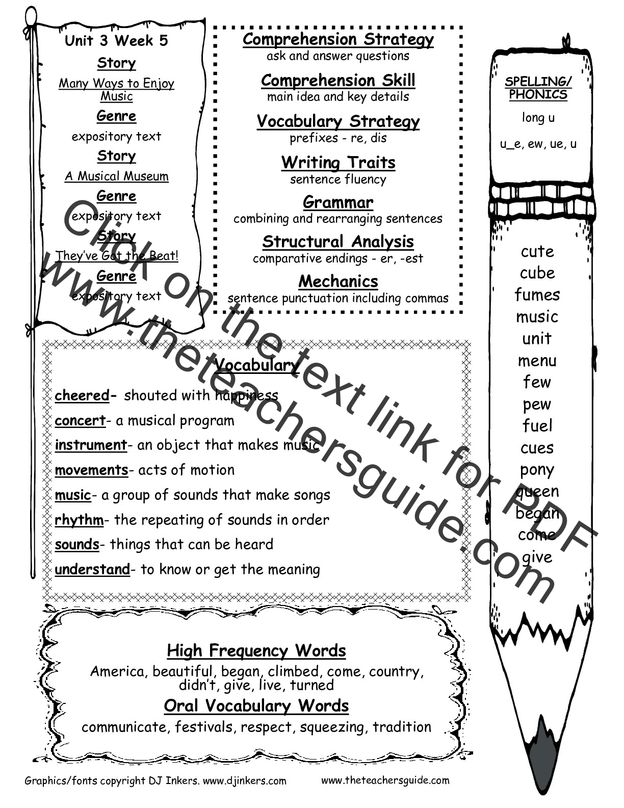 worksheet Punctuation Worksheets 2nd Grade wonders second grade unit three week five printouts weekly outline