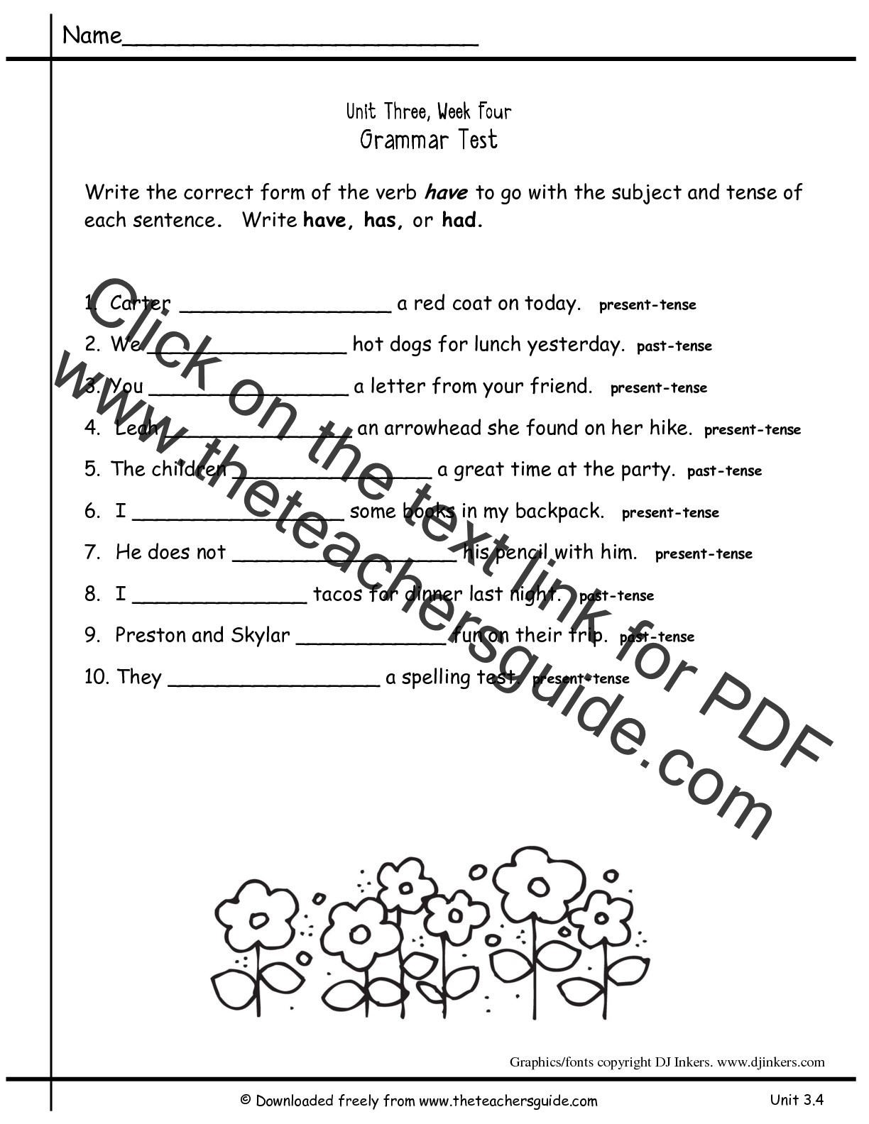 Printables Grammar Worksheets For 2nd Grade grammar worksheets for 2nd grade free scalien wonders second unit three week four printouts