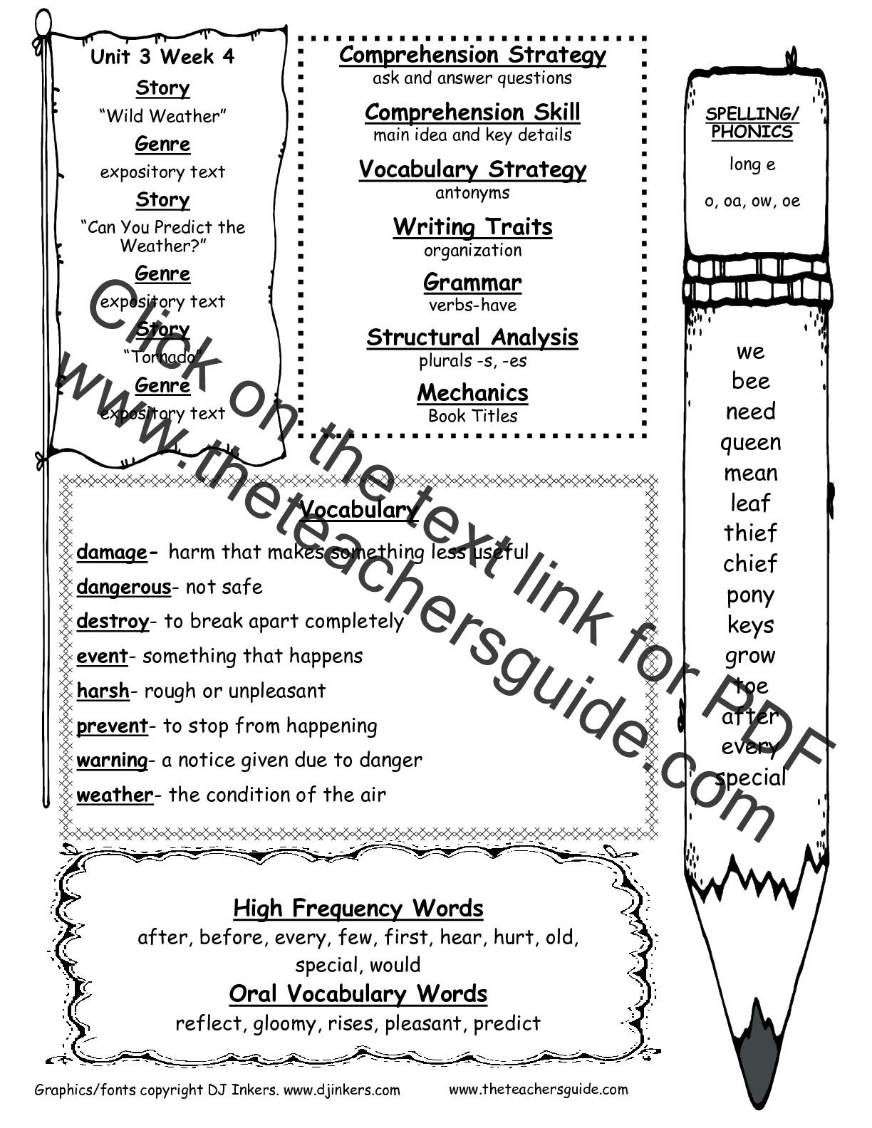 mcgraw hill wonders 2nd grade spelling list
