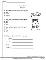 wonders second grade unit three week one skills test