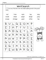 wonders second grade unit three week one spelling wordsearch