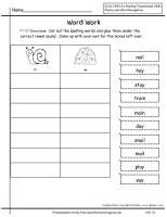 wonders second grade unit three week one spelling sort