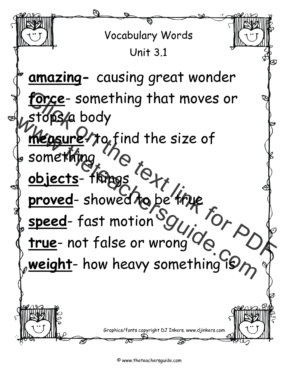 Uncategorized 2nd Grade Vocabulary Worksheets wonders second grade unit three week one printouts vocabulary words