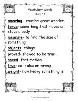 wonders second grade unit three week one vocabulary words