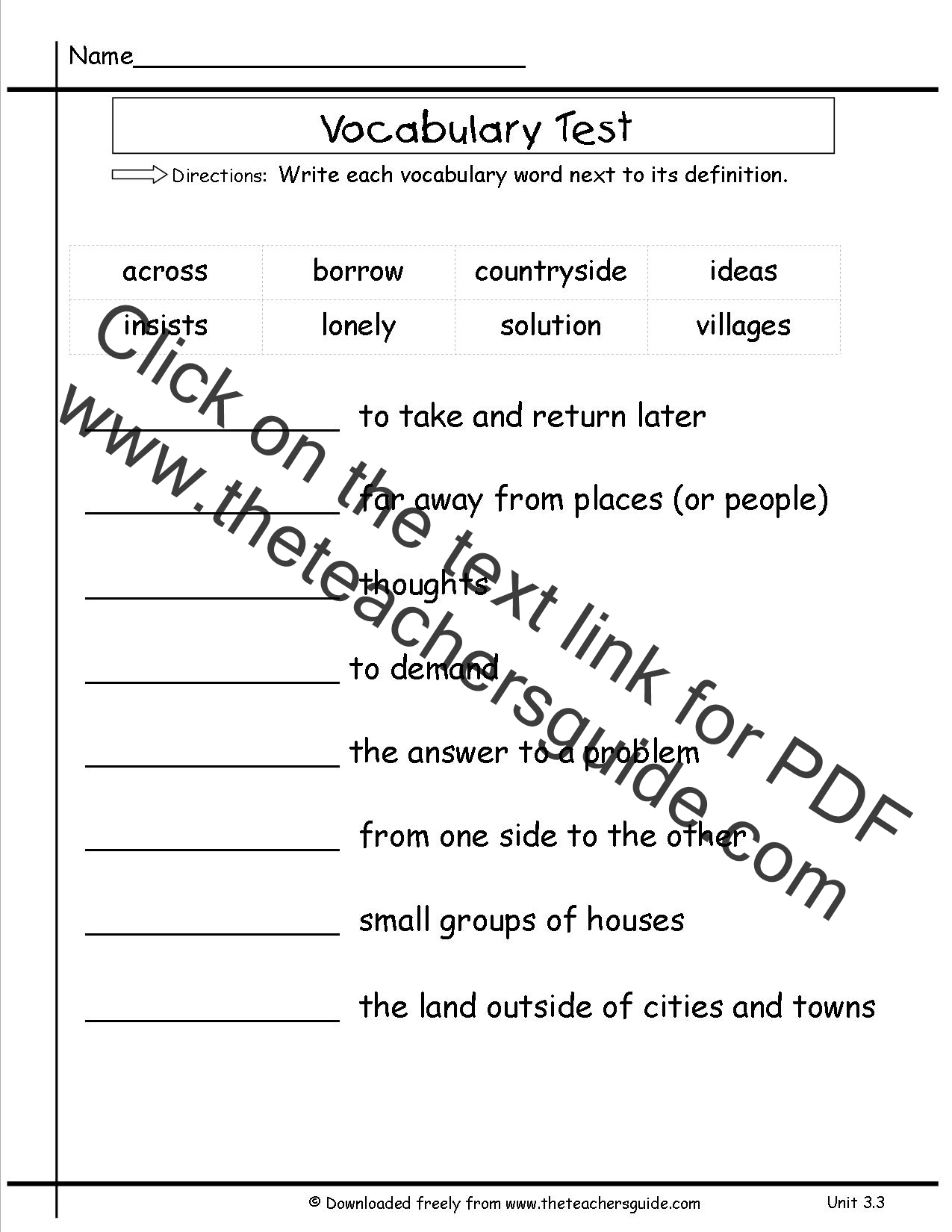 Worksheets 9th Grade Vocabulary Worksheets wonders second grade unit three week printouts vocabulary test