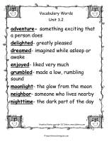 wonders second grade unit 3 week two vocabulary cards