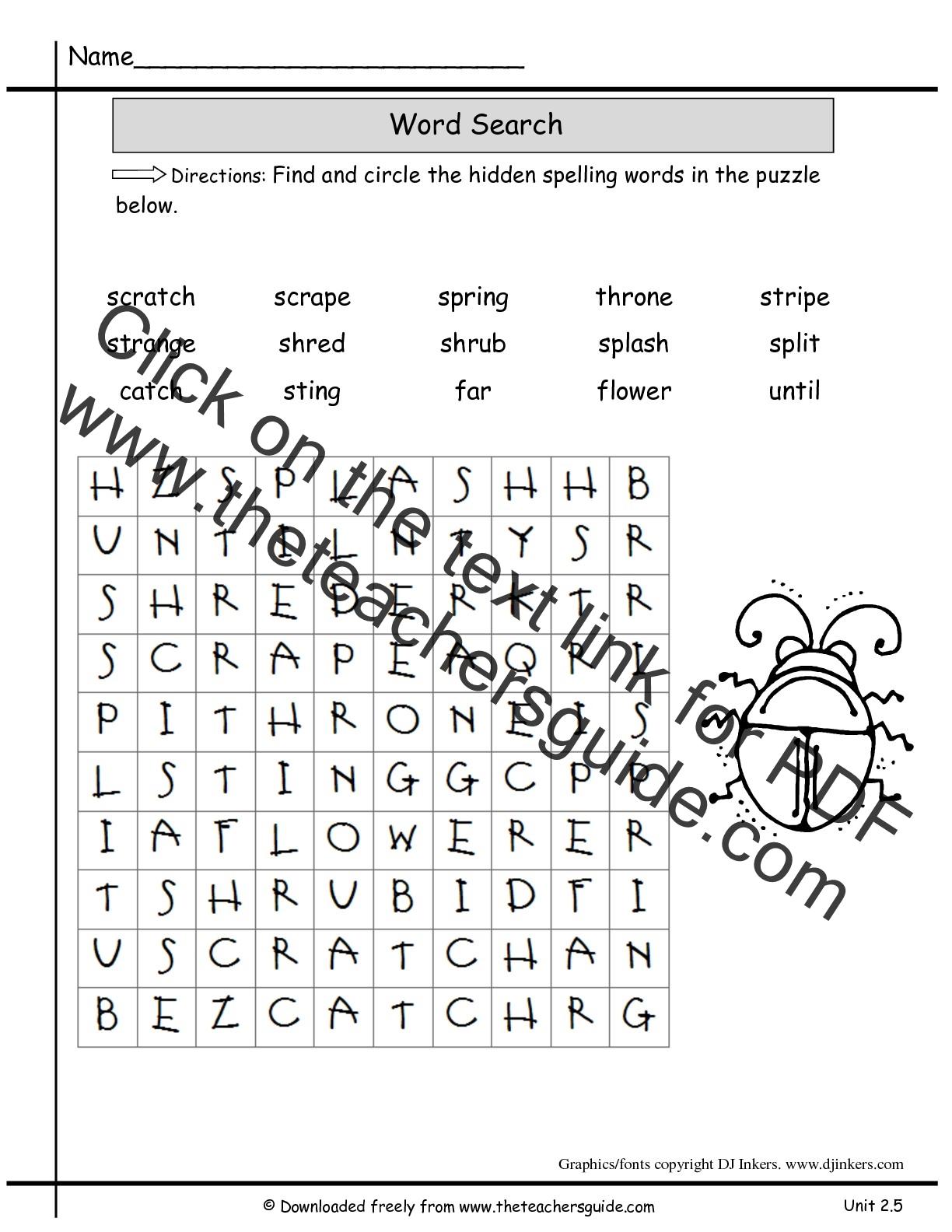 Wonders second grade unit two week five printouts wonders 2nd grade unit two week five spelling wordsearch ibookread ePUb