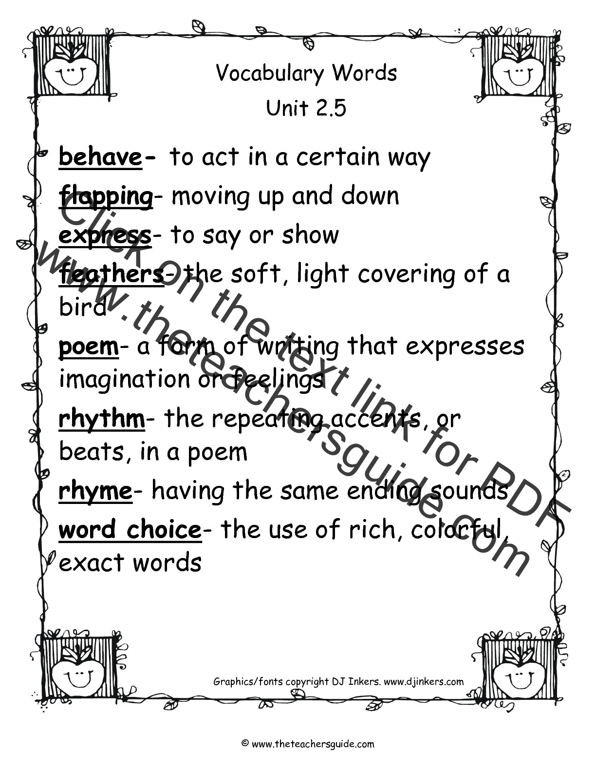 Worksheet Vocabulary Words Meaning And Sentence wonders second grade unit two week five printouts 2nd vocabulary words printout