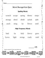 wonders 2nd grade unit two week five quiz