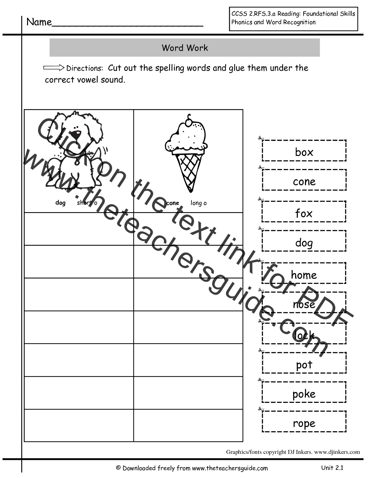 Worksheets Second Grade Spelling Worksheets wonders second grade unit two week one printouts spelling