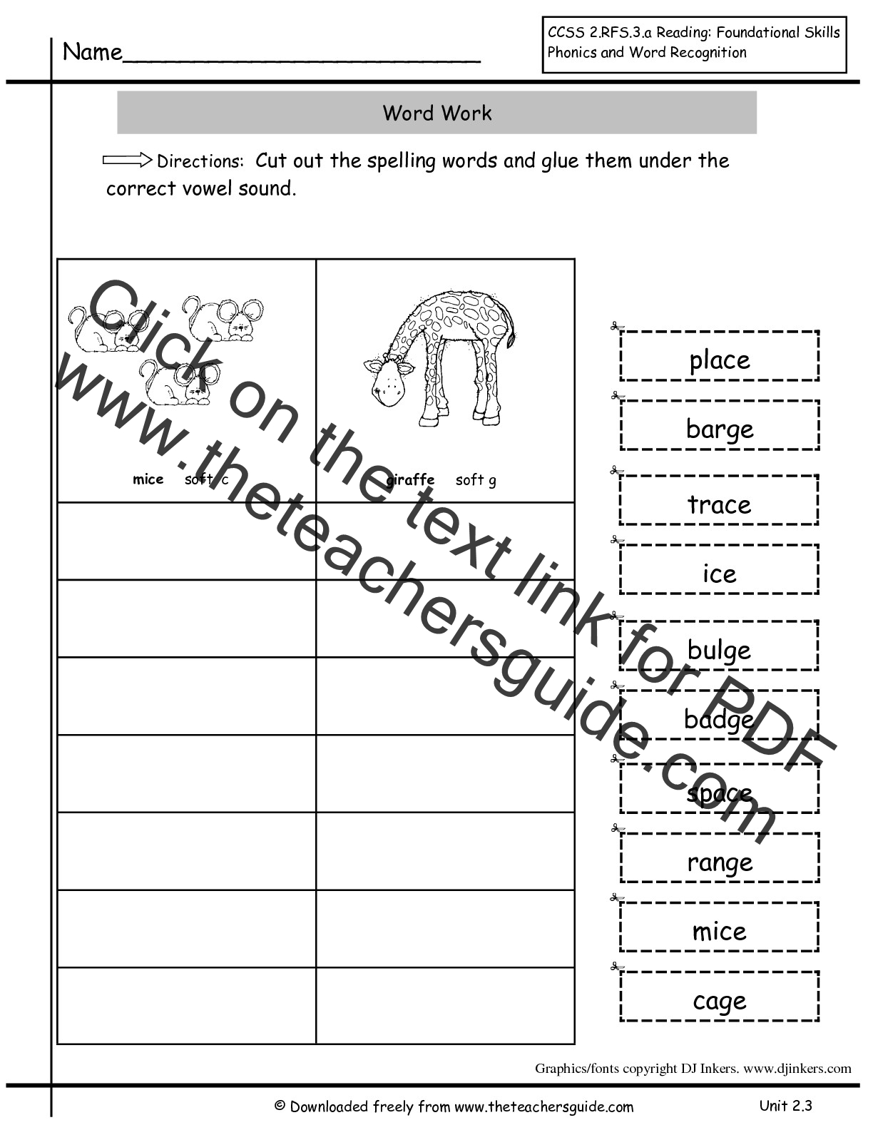 Revered image in grade 2 spelling words printable