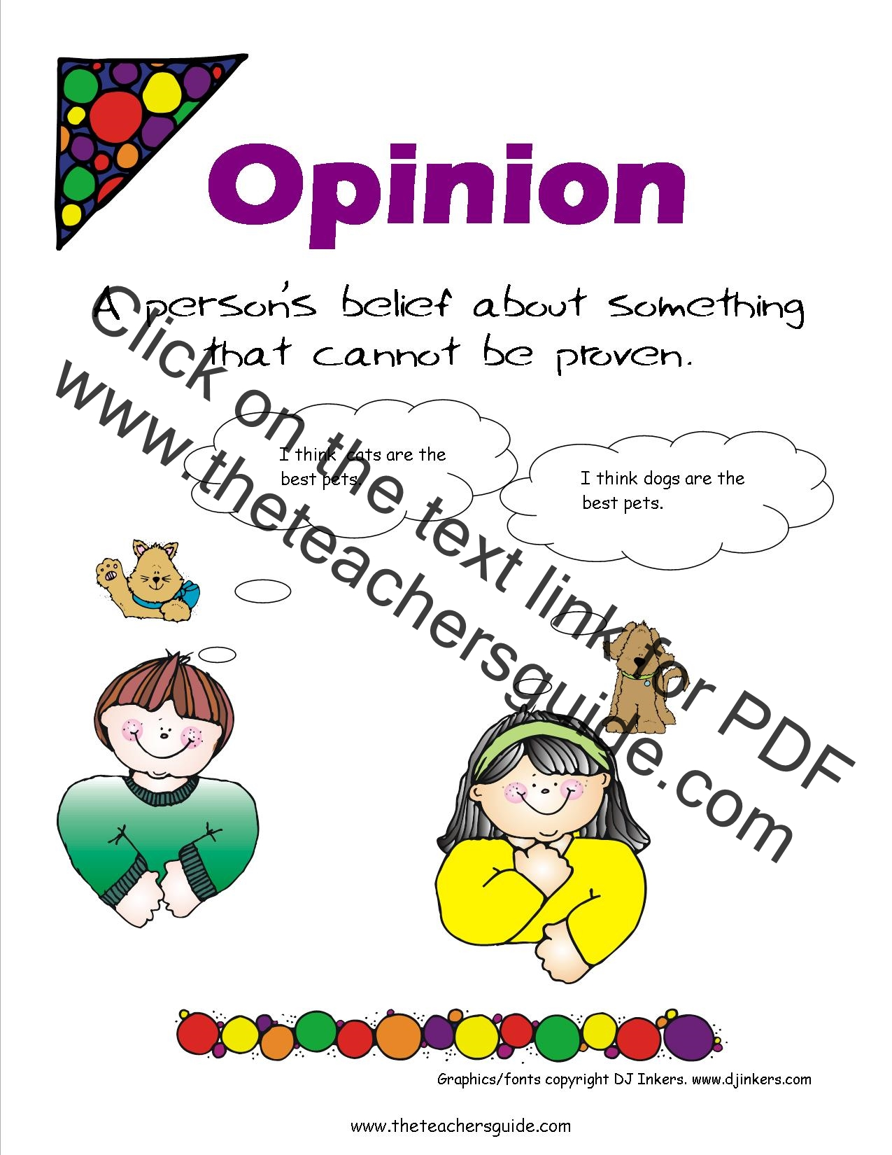 Opinion Writing Lesson Plans, Themes, Printouts, Crafts