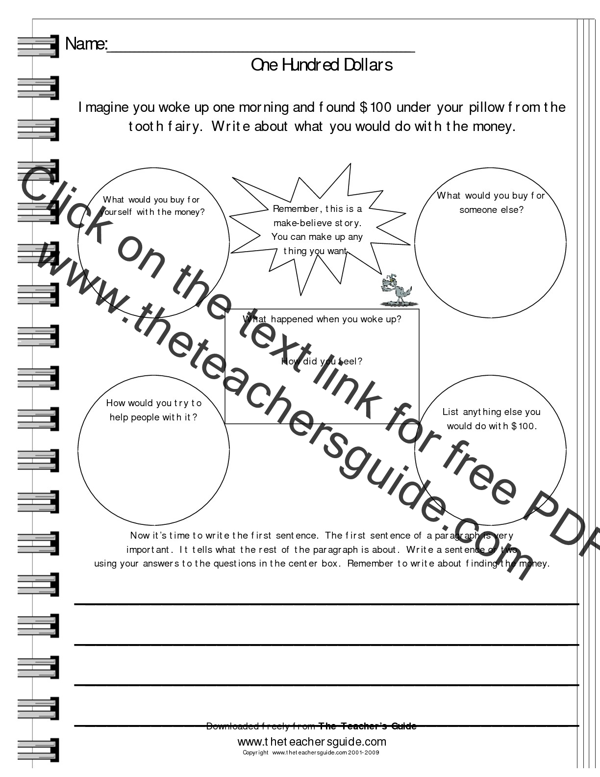 Writing Prompt Worksheets from The Teachers Guide – 2nd Grade Writing Prompts Worksheets